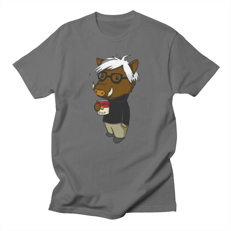 Andy Warthog Men's T-Shirt by Dino & Panda Artist Shop