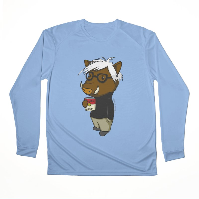 Andy Warthog Women's Performance Unisex Longsleeve T-Shirt by Dino & Panda Inc Artist Shop