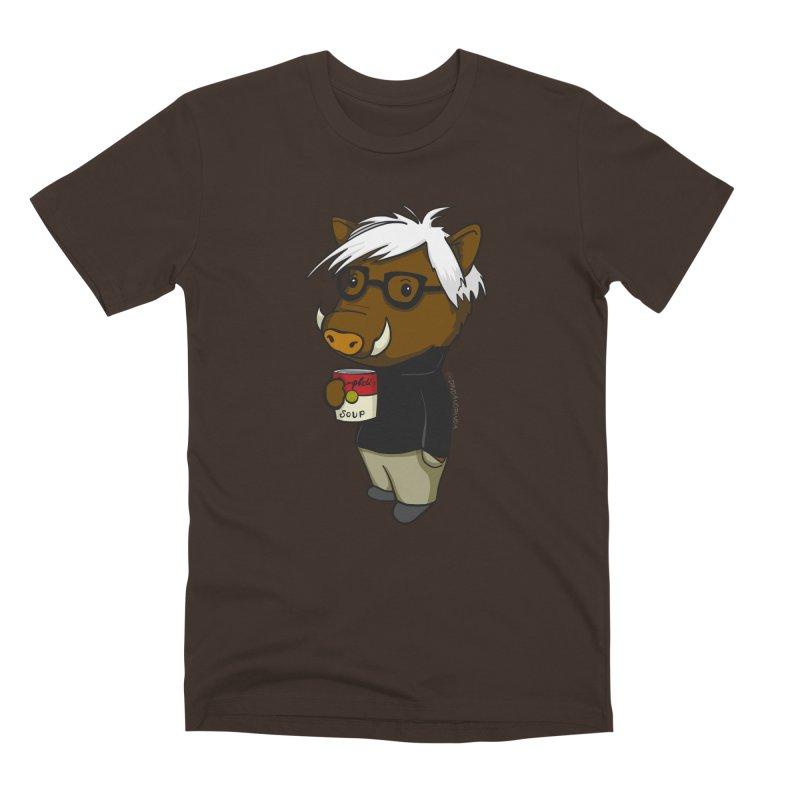 Andy Warthog Men's Premium T-Shirt by Dino & Panda Inc Artist Shop
