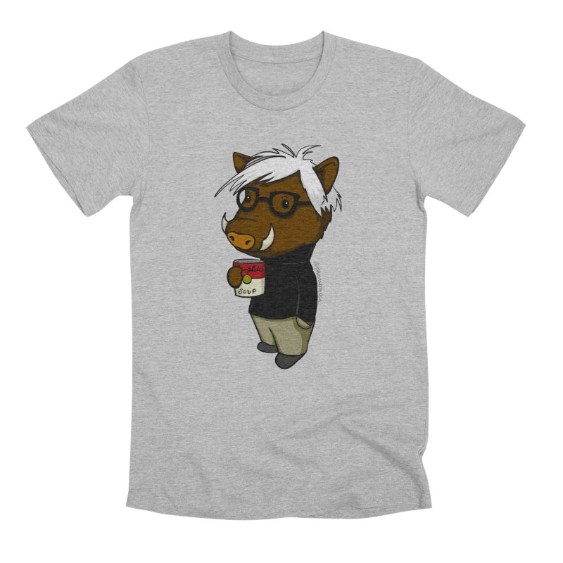 Andy Warthog Men's Premium T-Shirt by Dino & Panda Inc Artist Shop