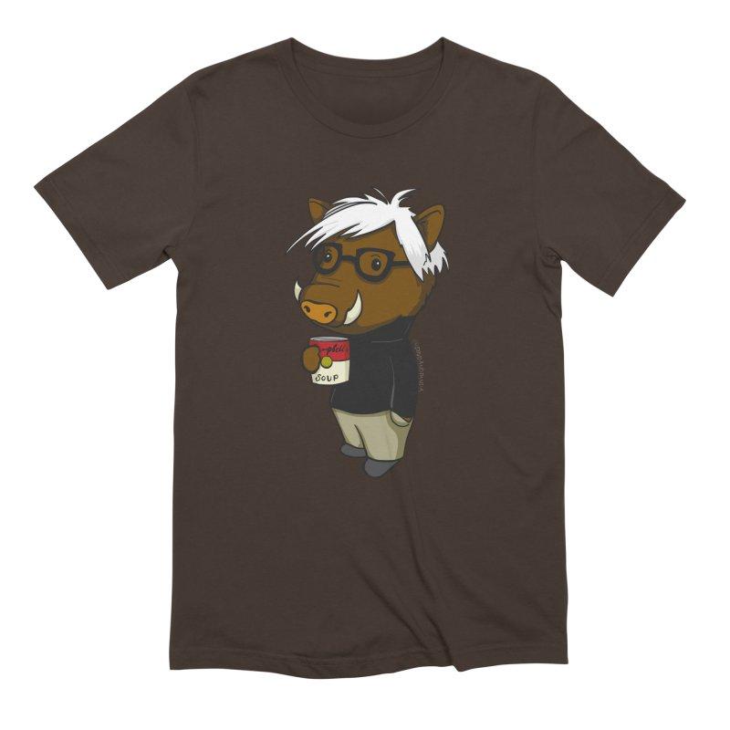 Andy Warthog Men's Extra Soft T-Shirt by Dino & Panda Inc Artist Shop