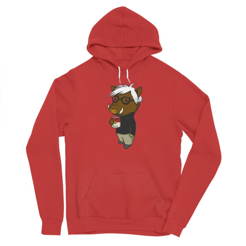 Andy Warthog Women's Pullover Hoody by Dino & Panda Artist Shop