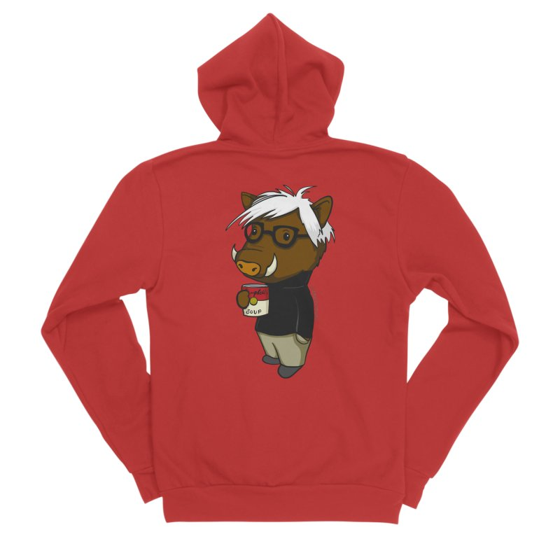 Andy Warthog Women's Zip-Up Hoody by Dino & Panda Inc Artist Shop