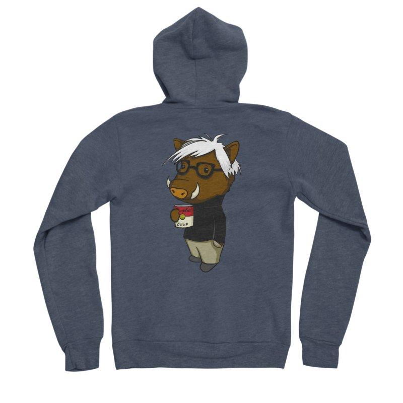 Andy Warthog Women's Zip-Up Hoody by Dino & Panda Inc Artist Shop
