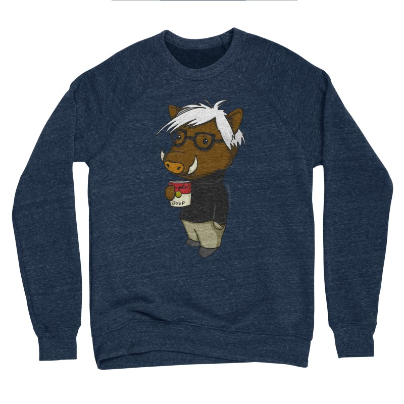 Andy Warthog Men's Sponge Fleece Sweatshirt by Dino & Panda Inc Artist Shop