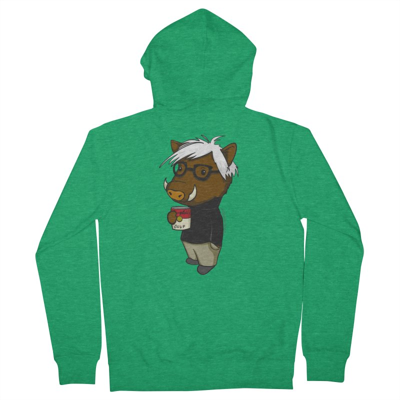 Andy Warthog Women's Zip-Up Hoody by Dino & Panda Artist Shop