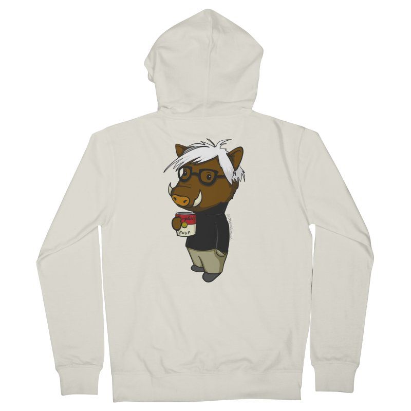 Andy Warthog Men's French Terry Zip-Up Hoody by Dino & Panda Inc Artist Shop