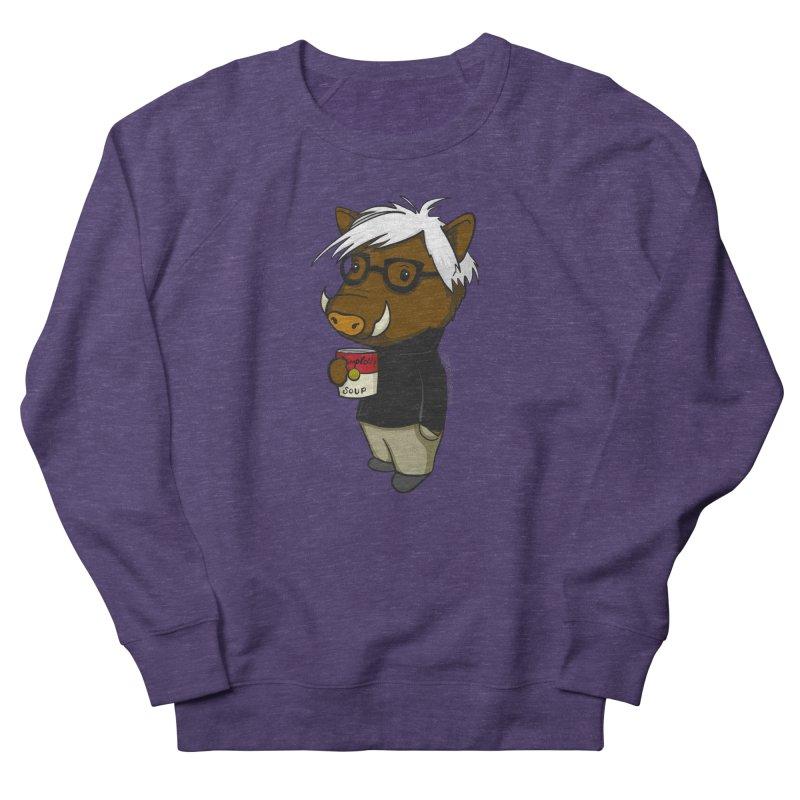Andy Warthog Women's French Terry Sweatshirt by Dino & Panda Inc Artist Shop
