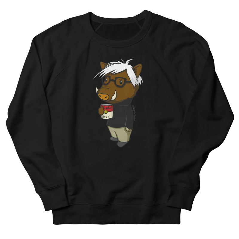 Andy Warthog Men's French Terry Sweatshirt by Dino & Panda Inc Artist Shop