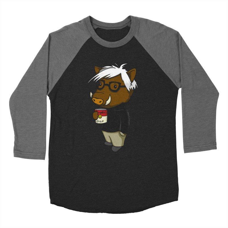 Andy Warthog Women's Baseball Triblend Longsleeve T-Shirt by Dino & Panda Inc Artist Shop