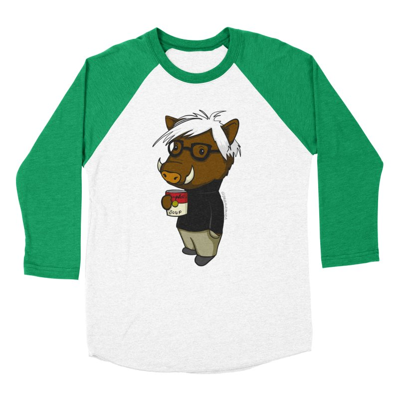 Andy Warthog Men's Baseball Triblend Longsleeve T-Shirt by Dino & Panda Inc Artist Shop