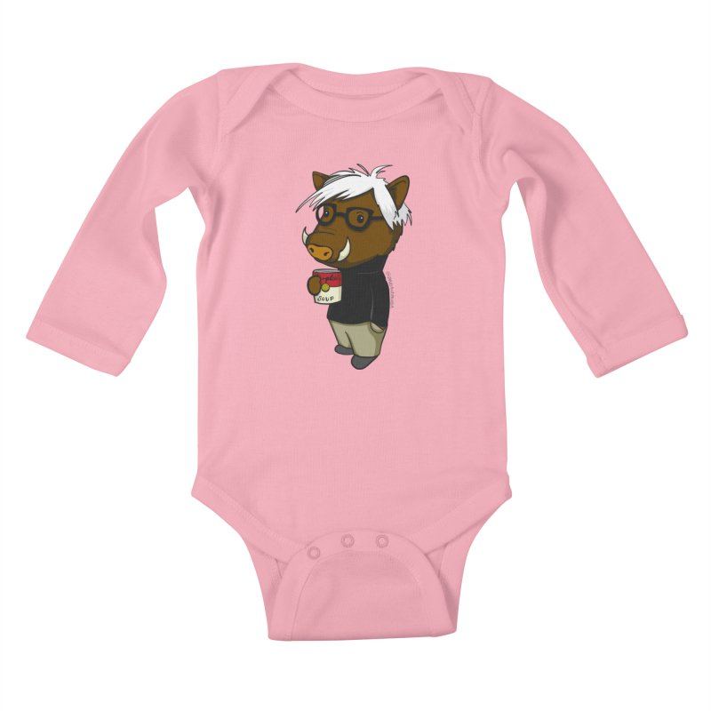 Andy Warthog Kids Baby Longsleeve Bodysuit by Dino & Panda Inc Artist Shop