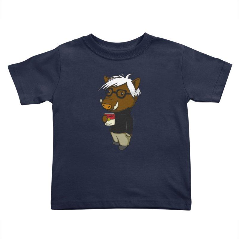 Andy Warthog Kids Toddler T-Shirt by Dino & Panda Inc Artist Shop