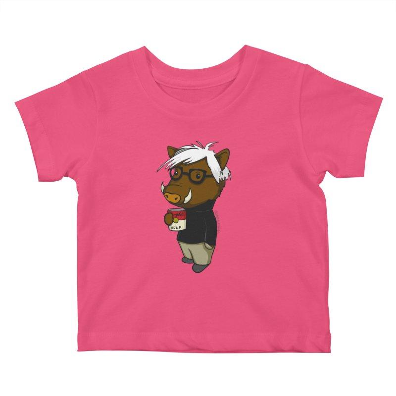 Andy Warthog Kids Baby T-Shirt by Dino & Panda Inc Artist Shop