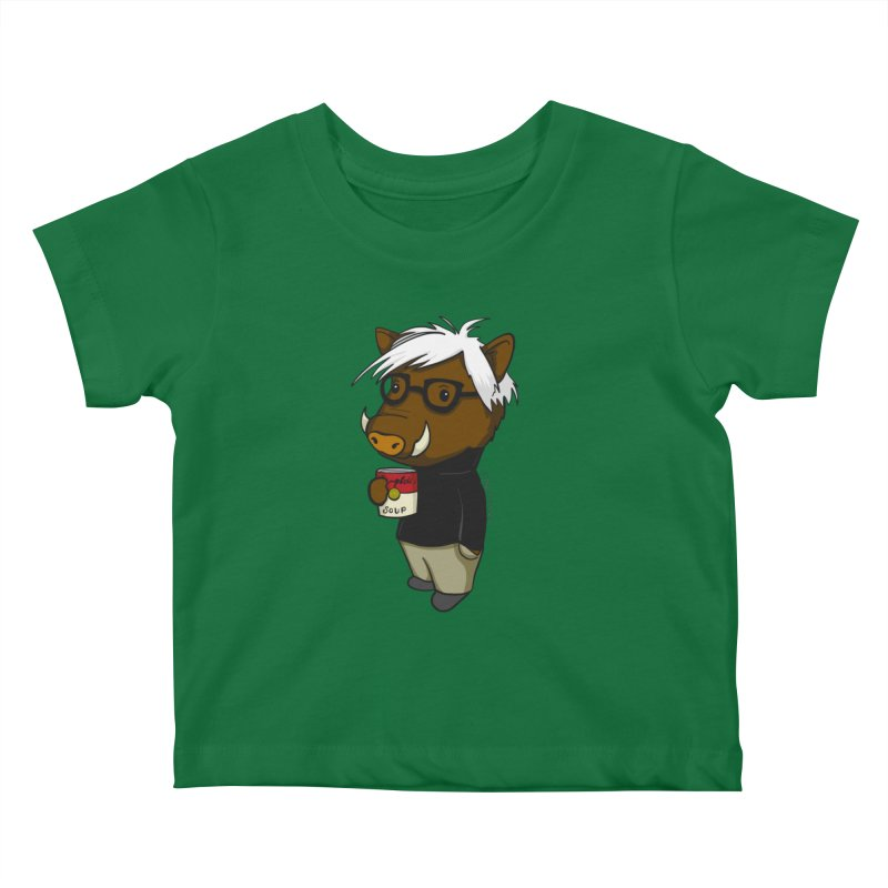 Andy Warthog Kids Baby T-Shirt by Dino & Panda Inc Artist Shop
