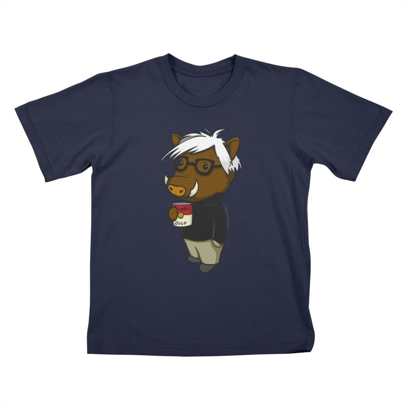 Andy Warthog Kids T-Shirt by Dino & Panda Inc Artist Shop