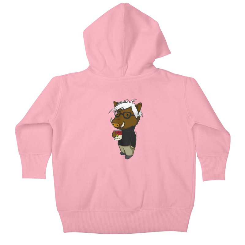 Andy Warthog Kids Baby Zip-Up Hoody by Dino & Panda Inc Artist Shop