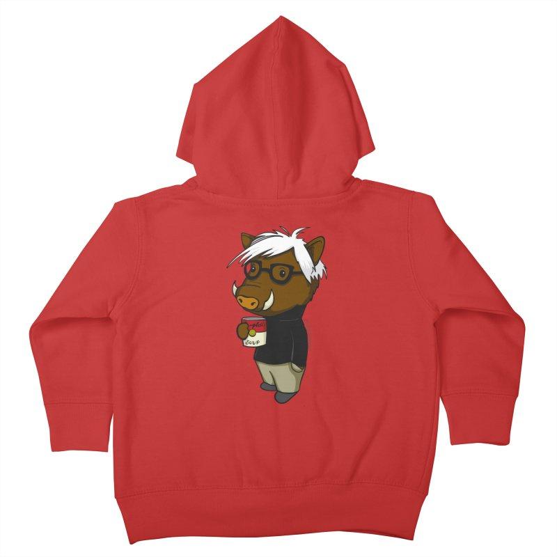 Andy Warthog Kids Toddler Zip-Up Hoody by Dino & Panda Artist Shop