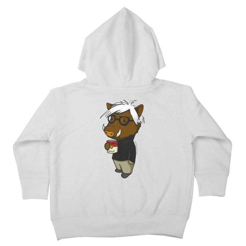 Andy Warthog Kids Toddler Zip-Up Hoody by Dino & Panda Inc Artist Shop
