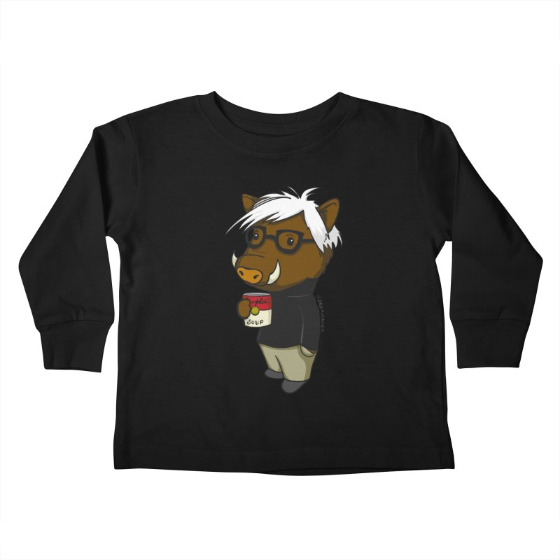Andy Warthog Kids Toddler Longsleeve T-Shirt by Dino & Panda Inc Artist Shop