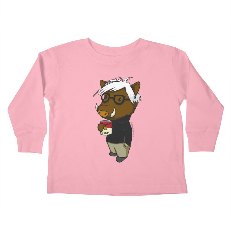 Andy Warthog Kids Toddler Longsleeve T-Shirt by Dino & Panda Inc Artist Shop