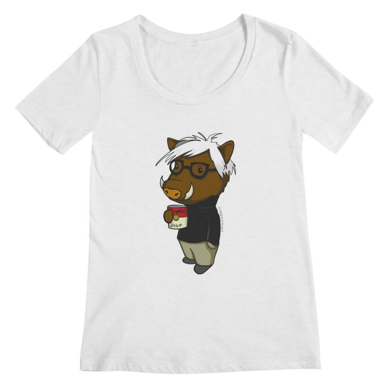 Andy Warthog Women's Scoop Neck by Dino & Panda Inc Artist Shop