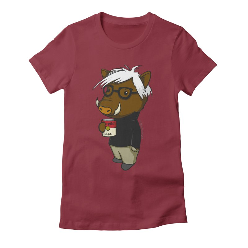 Andy Warthog Women's Fitted T-Shirt by Dino & Panda Inc Artist Shop