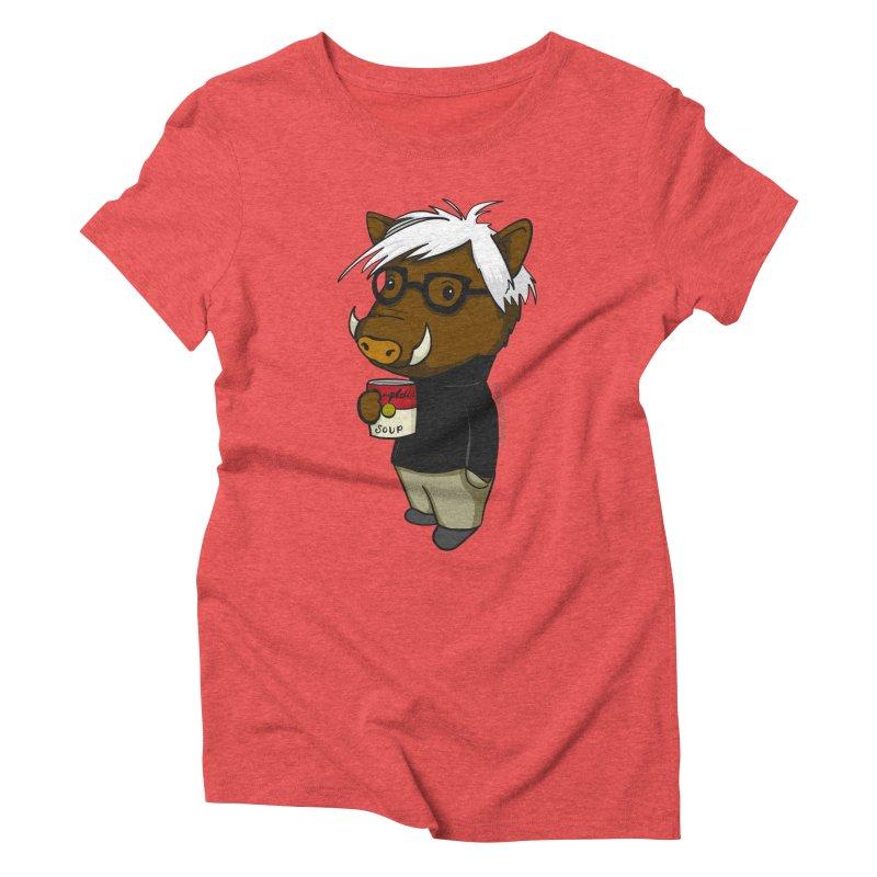 Andy Warthog Women's Triblend T-Shirt by Dino & Panda Inc Artist Shop