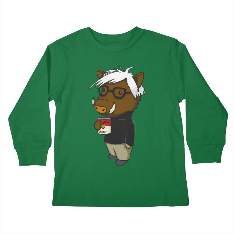 Andy Warthog Kids Longsleeve T-Shirt by Dino & Panda Inc Artist Shop