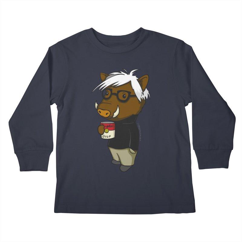 Andy Warthog Kids Longsleeve T-Shirt by Dino & Panda Artist Shop