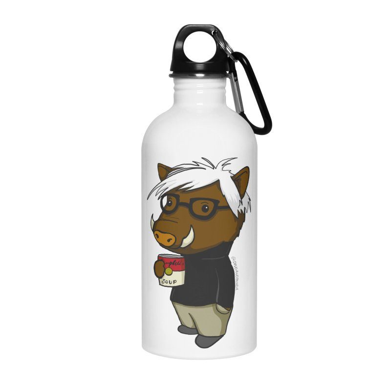 Andy Warthog Accessories Water Bottle by Dino & Panda Inc Artist Shop