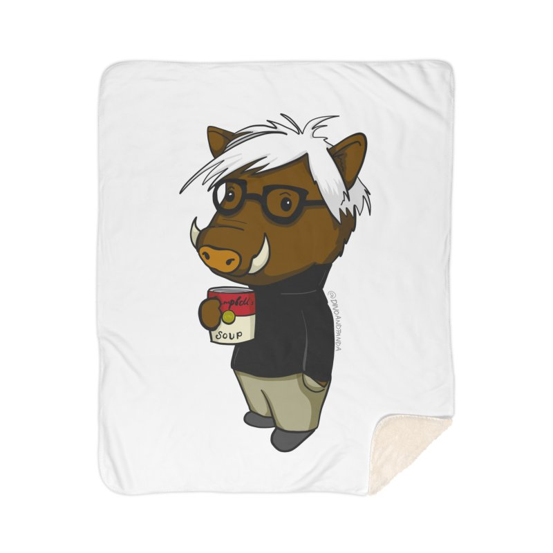 Andy Warthog Home Sherpa Blanket Blanket by Dino & Panda Inc Artist Shop