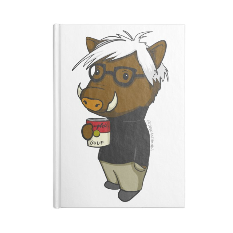 Andy Warthog Accessories Lined Journal Notebook by Dino & Panda Inc Artist Shop