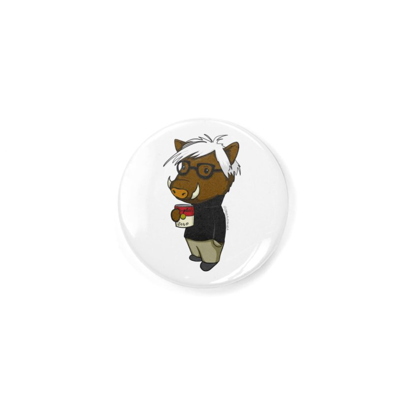 Andy Warthog Accessories Button by Dino & Panda Inc Artist Shop