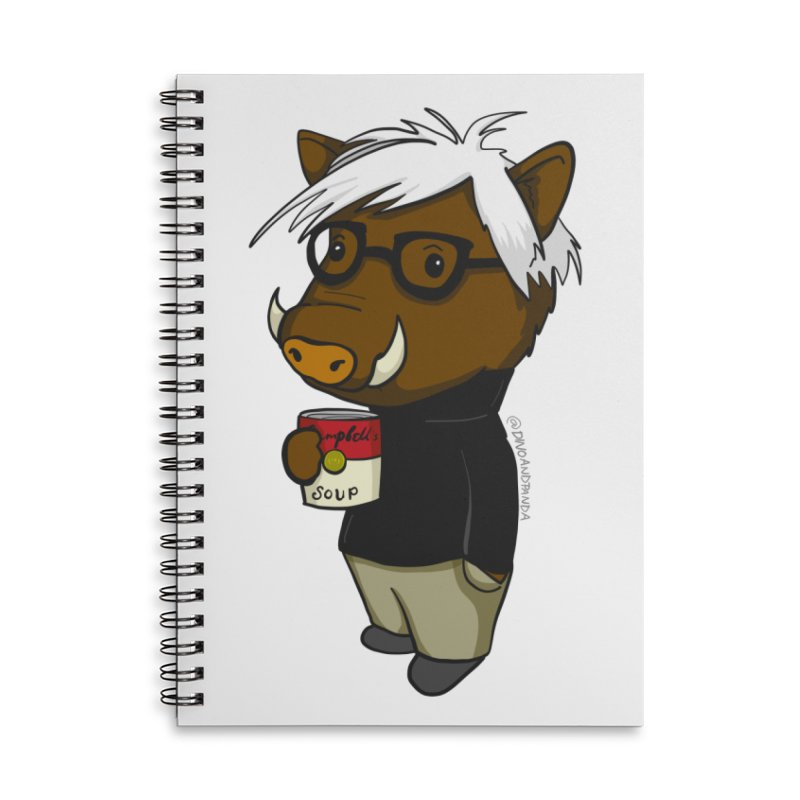 Andy Warthog Accessories Lined Spiral Notebook by Dino & Panda Inc Artist Shop