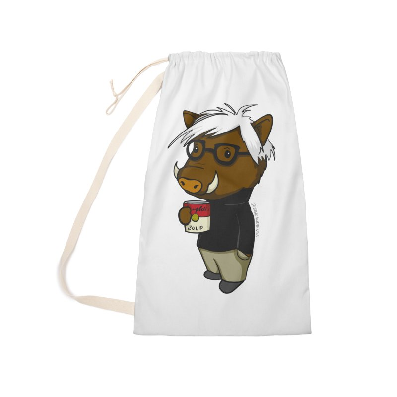 Andy Warthog Accessories Laundry Bag Bag by Dino & Panda Inc Artist Shop