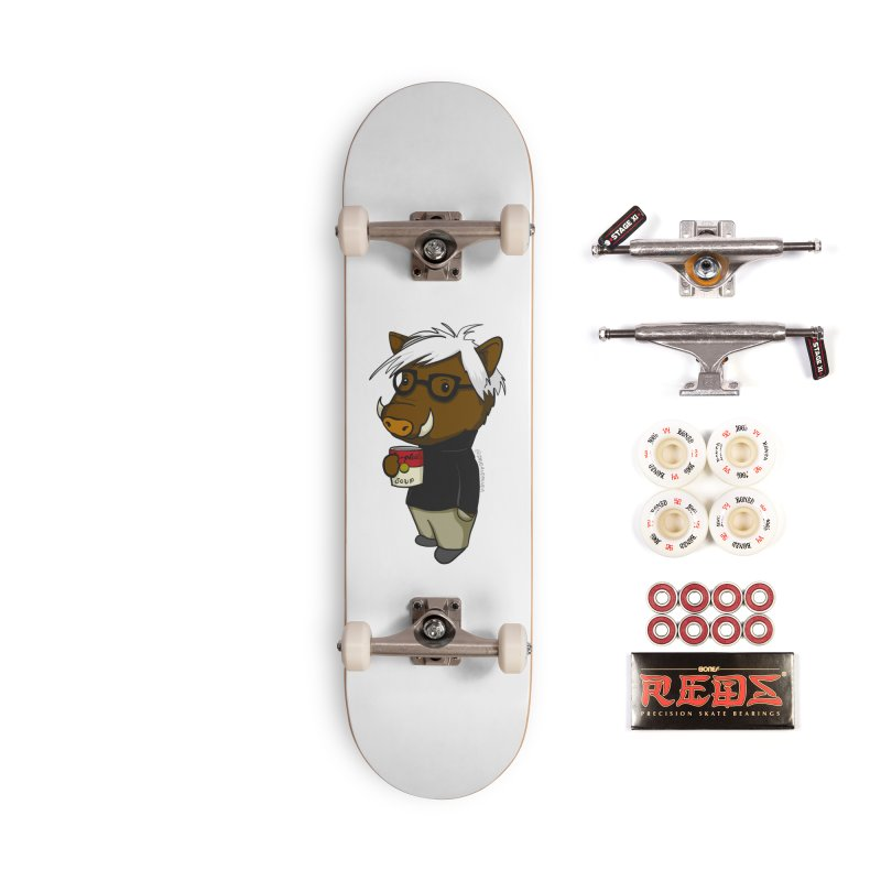 Andy Warthog Accessories Complete - Pro Skateboard by Dino & Panda Inc Artist Shop