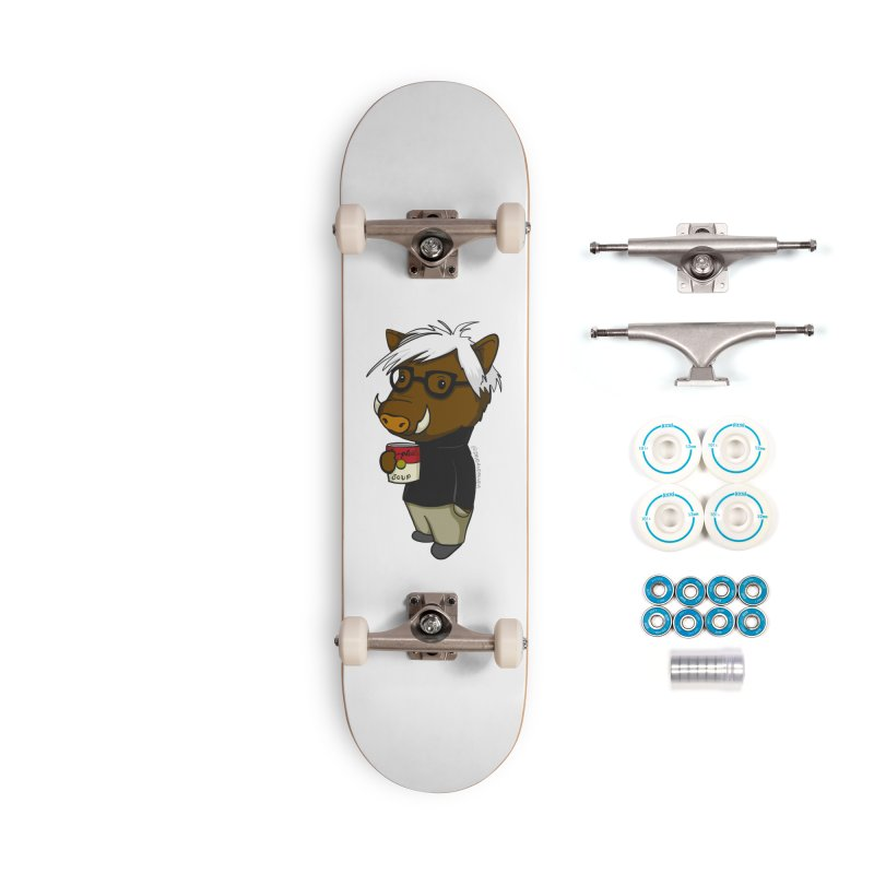 Andy Warthog Accessories Complete - Basic Skateboard by Dino & Panda Inc Artist Shop
