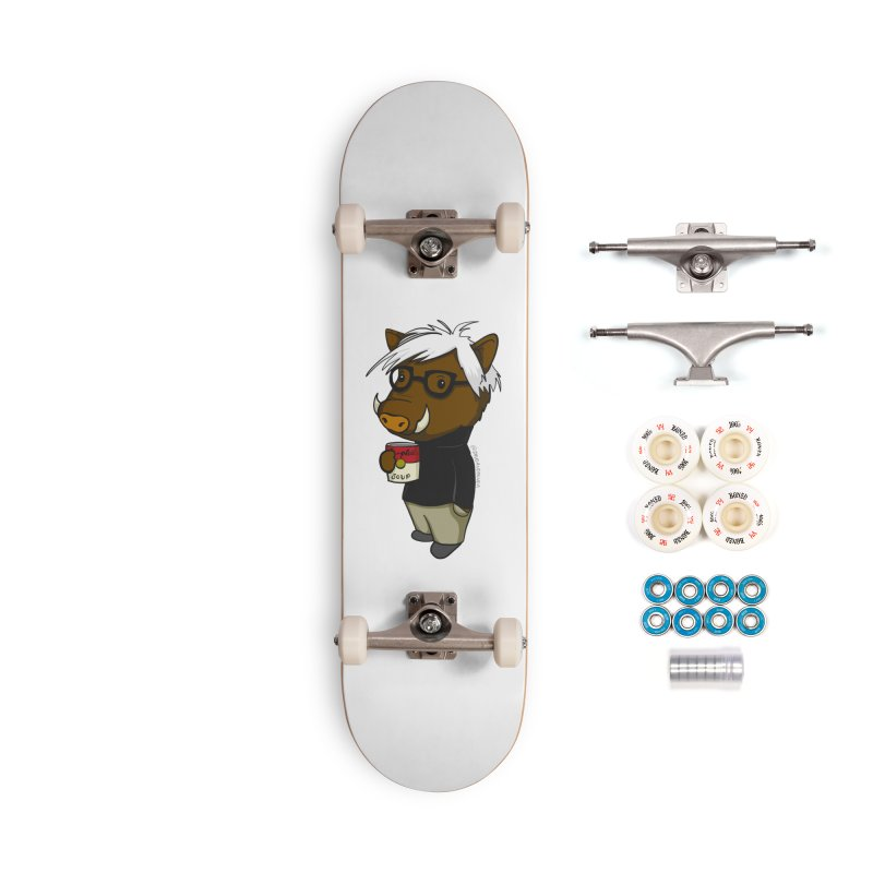 Andy Warthog Accessories Complete - Premium Skateboard by Dino & Panda Inc Artist Shop