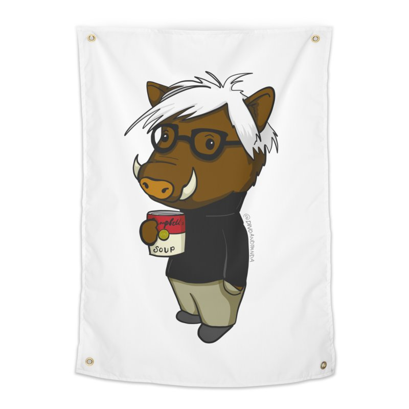 Andy Warthog Home Tapestry by Dino & Panda Inc Artist Shop