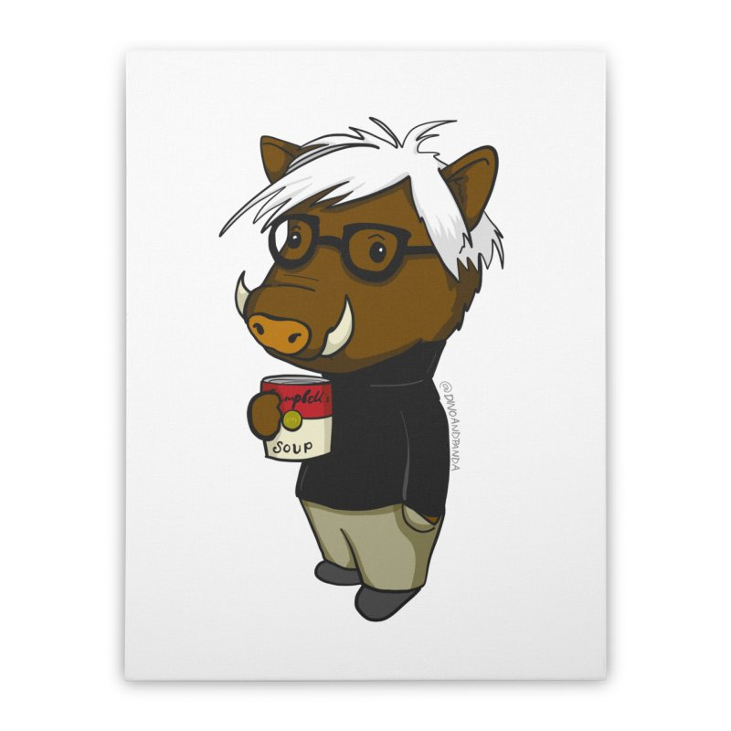 Andy Warthog Home Stretched Canvas by Dino & Panda Inc Artist Shop