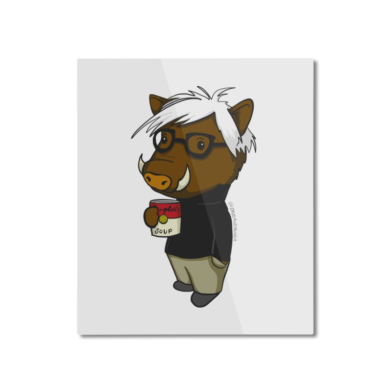 Andy Warthog Home Mounted Aluminum Print by Dino & Panda Inc Artist Shop