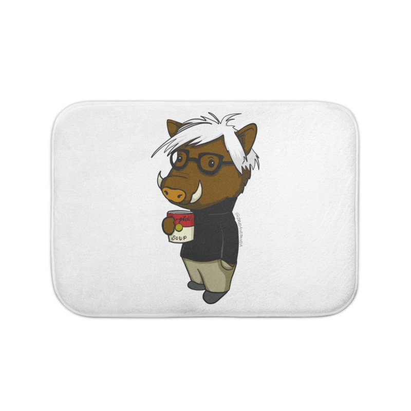 Andy Warthog Home Bath Mat by Dino & Panda Inc Artist Shop