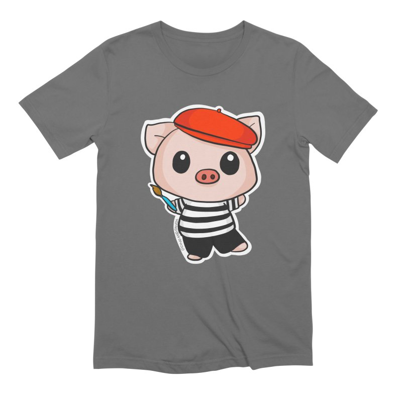 Pablo Pigcasso Men's T-Shirt by Dino & Panda Artist Shop