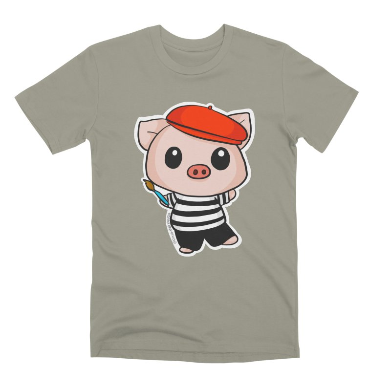 Pablo Pigcasso Men's Premium T-Shirt by Dino & Panda Inc Artist Shop