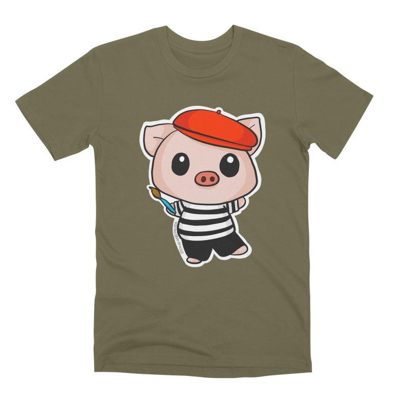 Pablo Pigcasso Men's Premium T-Shirt by Dino & Panda Inc Artist Shop