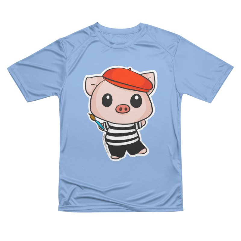 Pablo Pigcasso Men's Performance T-Shirt by Dino & Panda Inc Artist Shop
