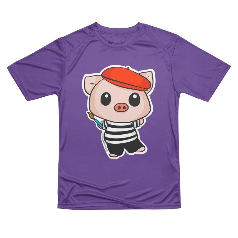 Pablo Pigcasso Women's Performance Unisex T-Shirt by Dino & Panda Inc Artist Shop
