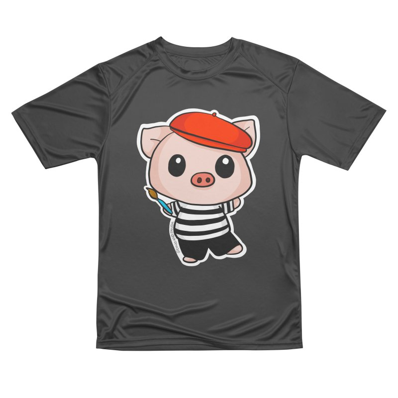 Pablo Pigcasso Women's Performance Unisex T-Shirt by Dino & Panda Inc Artist Shop
