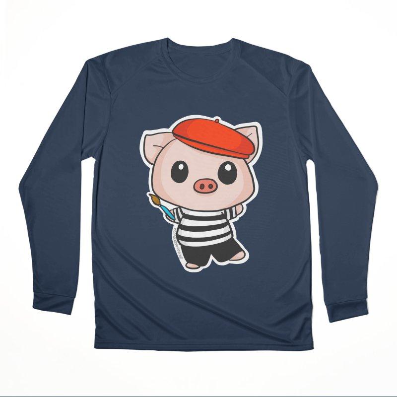 Pablo Pigcasso Women's Performance Unisex Longsleeve T-Shirt by Dino & Panda Inc Artist Shop